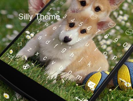 Silly Dog-Kitty Emoji Keyboard apk screenshot