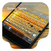 Sunset -Kitty Emoji Keyboard icon