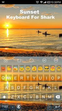 Sunset -Kitty Emoji Keyboard poster