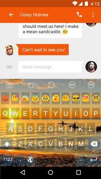 Sunset -Kitty Emoji Keyboard screenshot 2