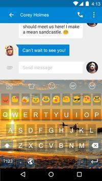 Sunset -Kitty Emoji Keyboard screenshot 3