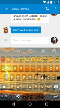 Sunset -Kitty Emoji Keyboard apk screenshot