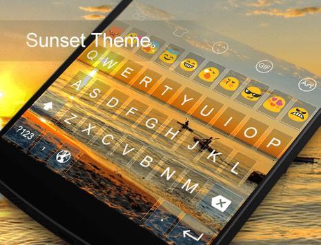 Sunset -Kitty Emoji Keyboard screenshot 4