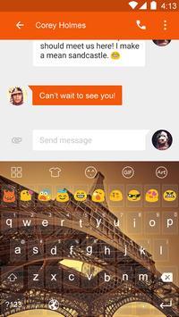 Dark Paris Emoji Keyboard screenshot 2