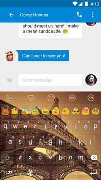 Dark Paris Emoji Keyboard screenshot 3