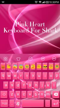 Pink Heart Messenger Keyboard poster