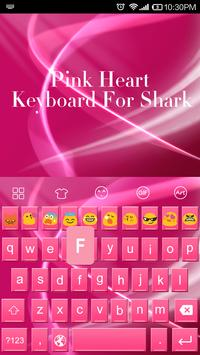 Pink Heart Messenger Keyboard screenshot 1