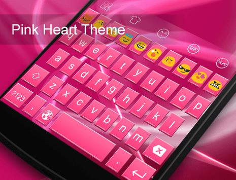 Pink Heart Messenger Keyboard screenshot 4