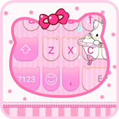 Lovely Pink Cat-Emoji Keyboard icon