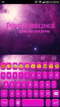 Purple Feelings-Emoji Keyboard poster
