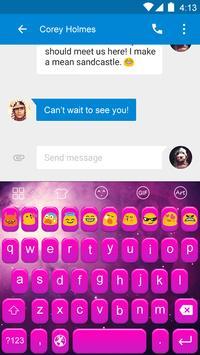 Purple Feelings-Emoji Keyboard apk screenshot
