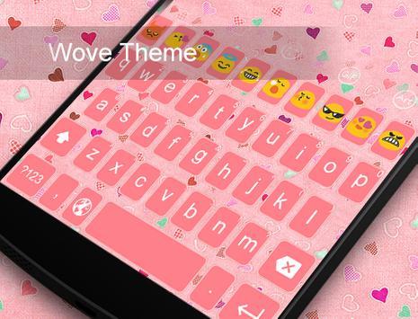Wove - Kitty Emoji Keyboard apk screenshot