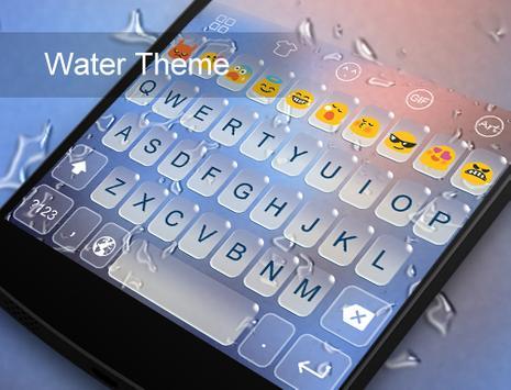 Water -Kitty Emoji Keyboard poster
