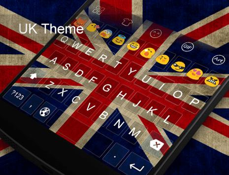 UK Theme -Kitty Emoji Keyboard apk screenshot