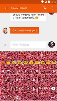 Leopard Theme -Emoji Keyboard poster