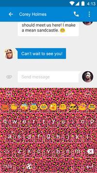 Leopard Theme -Emoji Keyboard screenshot 1