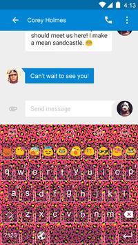 Cheetah Red -Video Keyboard apk screenshot