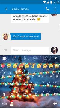 Happy Christmas Emoji Keyboard screenshot 3