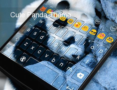 Cute Panda Photo Keyboard poster