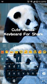 Cute Panda Photo Keyboard apk screenshot