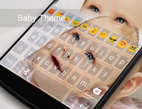 Baby Theme-Love Emoji Keyboard apk screenshot