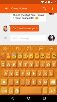 Bee Nest -Love Emoji Keyboard apk screenshot