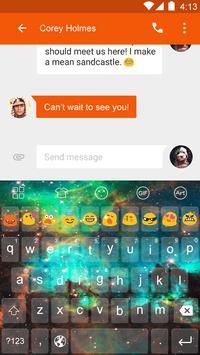 Galaxy Cloud Emoji Keyboard poster