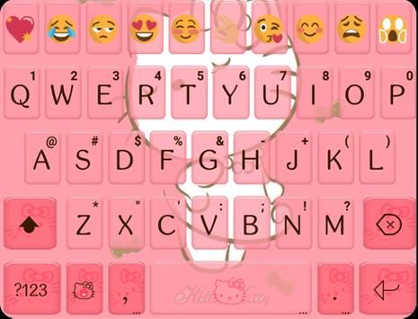 Sweet Kitty Emoji Keyboard poster