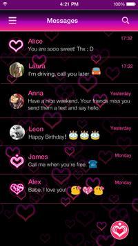 Neon Keyboard Theme -Emoji Gif screenshot 6