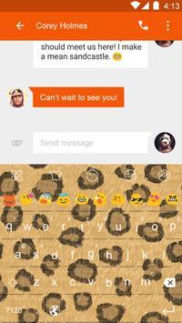 Leopard Pattern-Emoji Keyboard poster