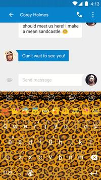 Leopard Skin -Emoji Keyboard apk screenshot