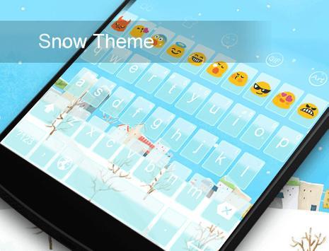 Snow World -Emoji Gif Keyboard apk screenshot