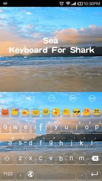 Calm Sea Kitty Emoji Keyboard apk screenshot