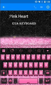 Pink Heart Eva Keyboard -Gifs apk screenshot