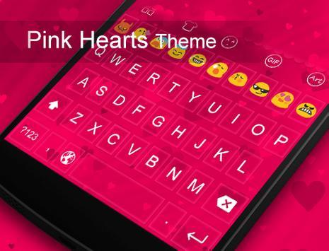 Pink Hearts -Kitty Keyboard apk screenshot