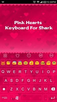 Pink Hearts -Kitty Keyboard poster