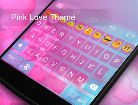Pink Love -Kitty Keyboard apk screenshot