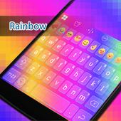 Rainbow Eva Keyboard -Diy Gifs icon
