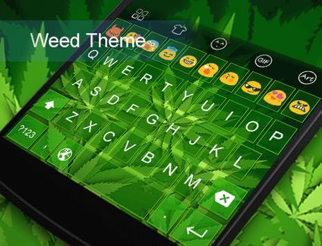 Green Leaves Emoji Keyboard poster