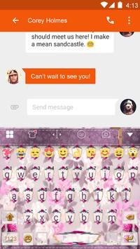Pink Flower Keyboard-Emoji Gif screenshot 3