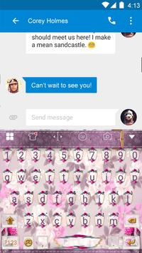 Pink Flower Keyboard-Emoji Gif screenshot 2