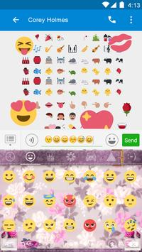 Pink Flower Keyboard-Emoji Gif screenshot 4