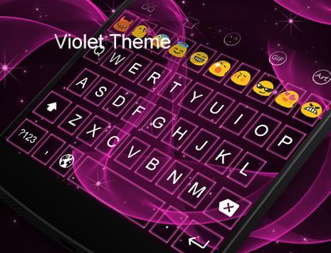 Violet -Kitty Emoji Keyboard screenshot 4