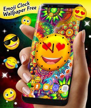 Emoji Clock Live Wallpaper Free poster
