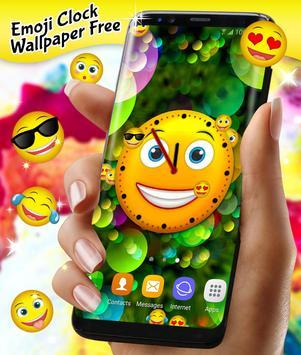 Emoji Clock Live Wallpaper Free apk screenshot