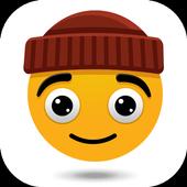 Emoji stickers HD for share icon