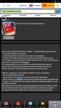 Turkish best dict sozluk apk screenshot