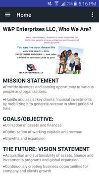 W&P Enterprises LLC Mobile App poster