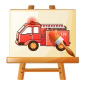 Kids Paintings Coloring - Cars icon