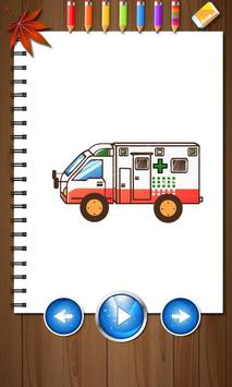 Kids Paintings Coloring - Cars poster